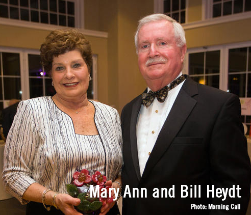 Mary Ann Heydt and former Allentown Mayor William Heydt, honorary ball chairs, at the Allentown Symphony Ball Feb. 6, 2017. Photo: Morning Call